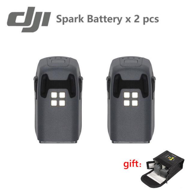 2PCS Original DJI Spark Drone Intelligent Flight Battery 1480mAh + Case Safe Bag