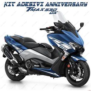 Adesivi Anniversary Compatibile Yamaha Tmax T-max 530 Dx Sx Bianco Argento 2017