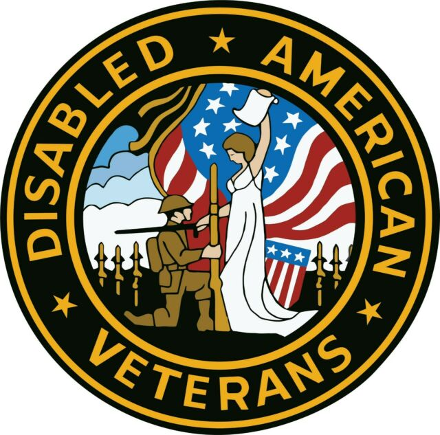 American Disabled Veterans Vinyl Sticker Decal SIZES