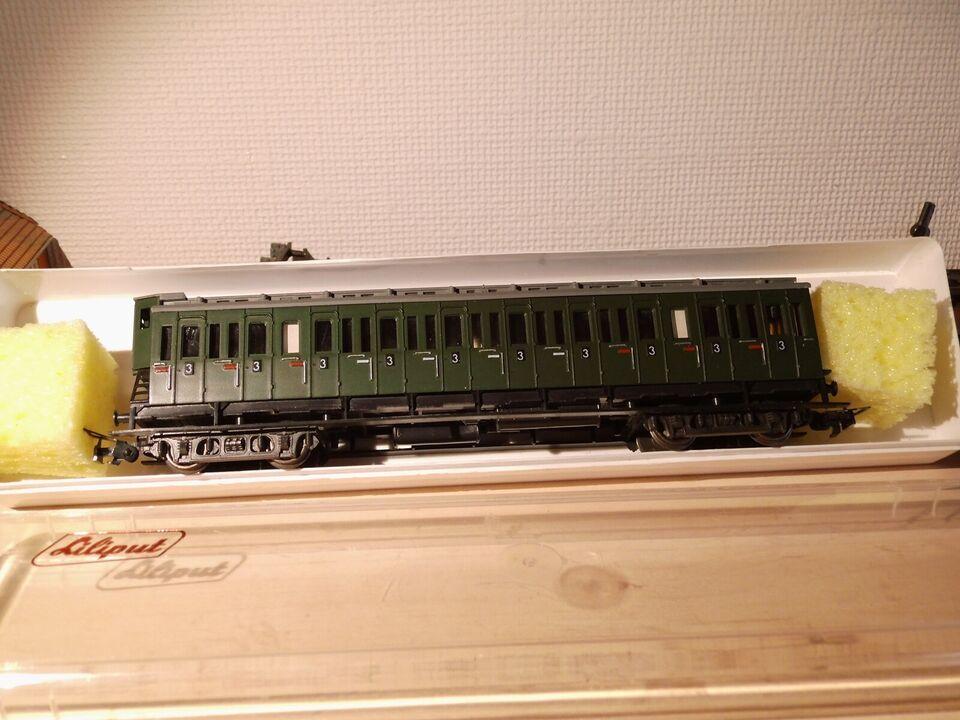 Modeltog, Liliput Oldtimer passagervogn, skala HO