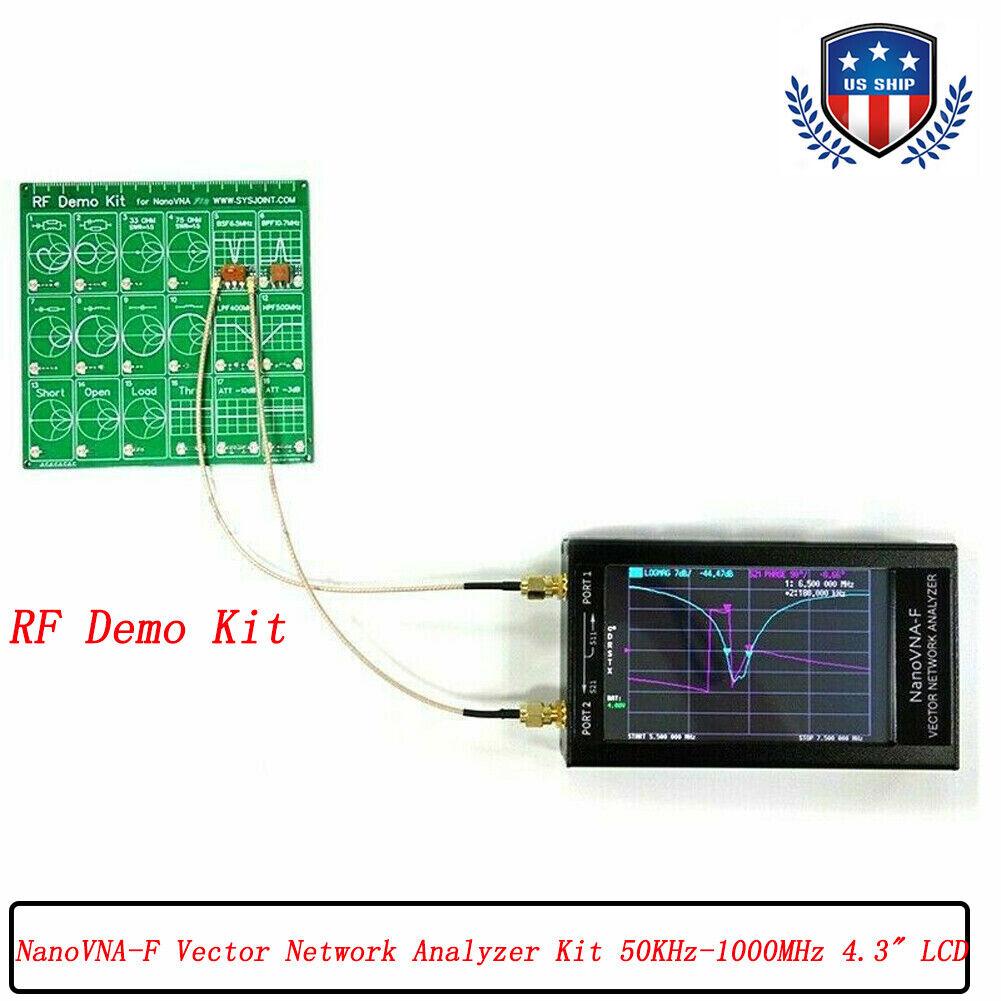 "US 50khz-1.5Ghz NanoVNA-F HF VHF UHF Vector Network Analyzer 4.3/"" LCD Display x"
