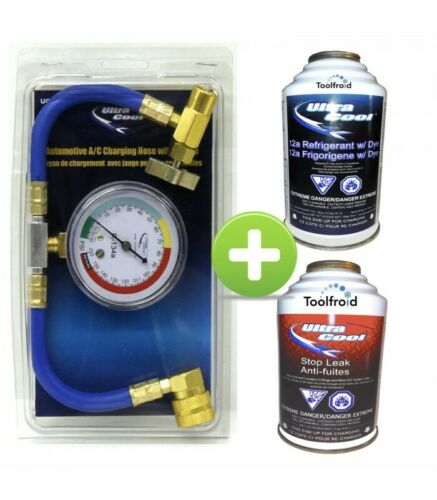 anti fuites gaz climatisation automobile Ultracool R134a Kit recharge 12a