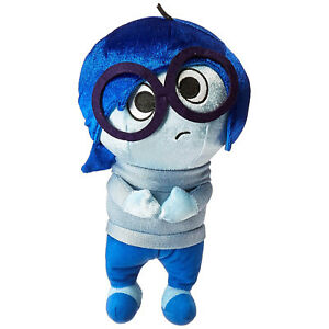 Disney-Inside-Out-Sadness-Zippered-Hanger-12-Inch-Plush-Figure-NEW-Toys-Movie