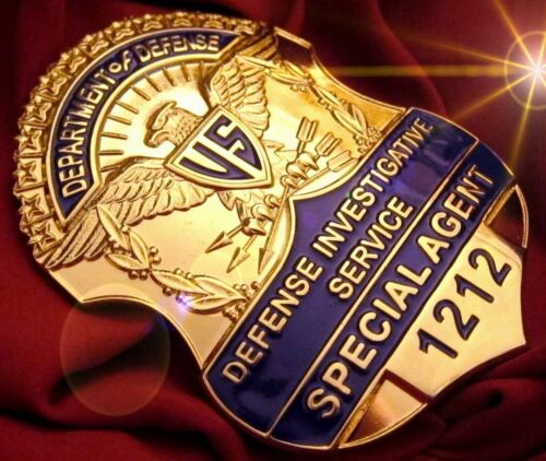Special Agent DEFENSE INVESTIGATIVE SERVICE no.1212 USA COLLECTOR'S POLICE BADGE