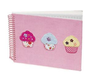 10 x Job Lot Girls Pink Cupcake Note Books Gift Party Bag NB-8101 By Katz
