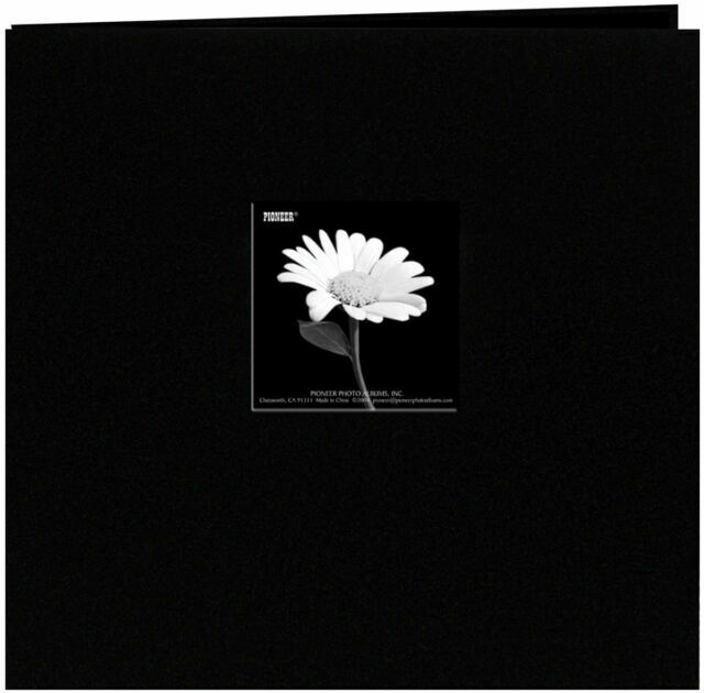 "Pioneer Book Cloth Cover Post Bound Album 8/""X8/"" Citrus Green 023602617421"