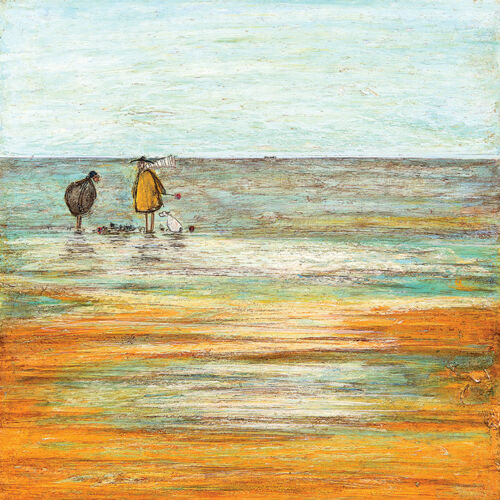 Ready Framed Canvas 40x40cm Sandcastle Progress Report Sam Toft