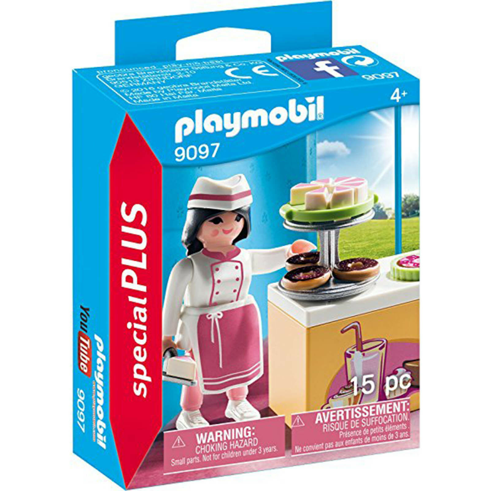 PLAYMOBIL 9097 Special Plus Pastry Chef Toy Set | eBay
