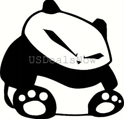 (2) BLACK Fat JDM Panda Vinyl Decal Sticker Car Window Hood Laptop Hoonigan iLL