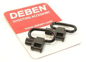 "DEBEN 1/"" QUICK RELEASE METAL SLING SWIVELS 2 PACK AIR RIFLE HUNTING SHOOTING"