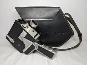 Vintage 1963 Bell & Howell ZOOM REFLEX 315 8mm Movie Camera w/ Leather Bag WORKS