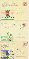 BELGIEN 1963/70 5 versch Reklame-GA (Publibel 1867 + 2048 +2142 + 2332N + 2346N)