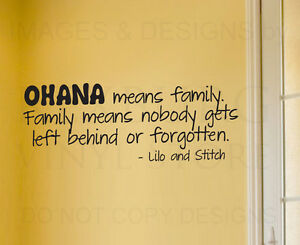 Image is loading Wall-Sticker-Decal-Quote-Vinyl-Art-Lettering-Lilo-  sc 1 st  eBay : ohana wall decal - www.pureclipart.com