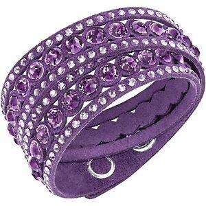 Bracciale-Swarovski-Slake-viola-purple-alcantara-Donna-bracelet-5201123-new-36cm