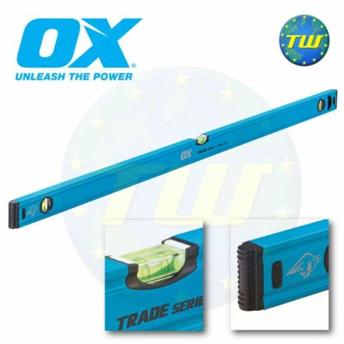 OX Tools Trade Spirit Level 1200mm 4Ft 48in 120cm 3 Vial Milled Levels T500212