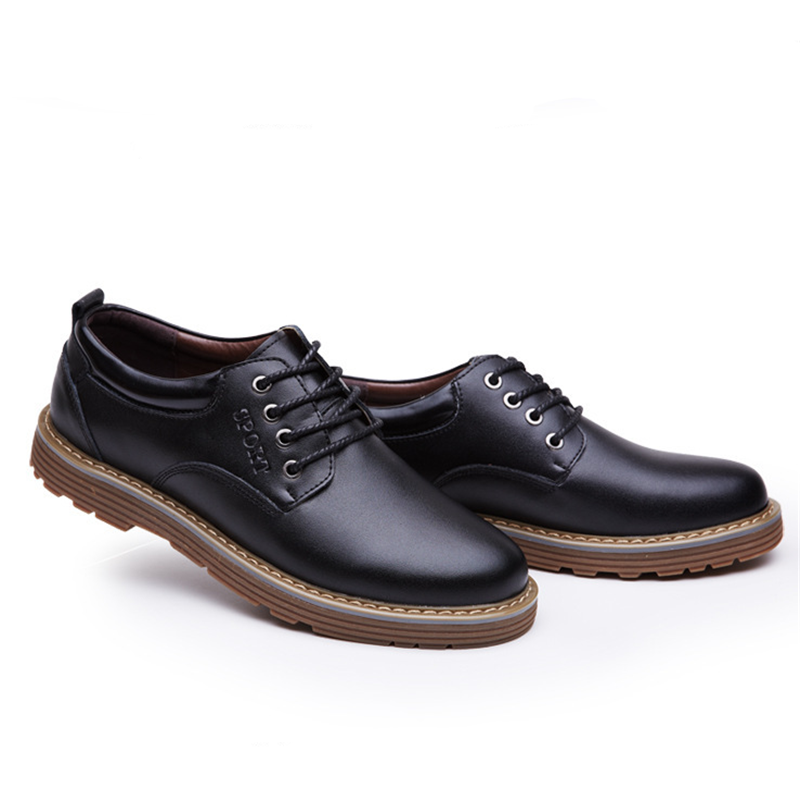 Men's Oxfords shoes Leather Formal Business British Style Dress Party Prom Flats