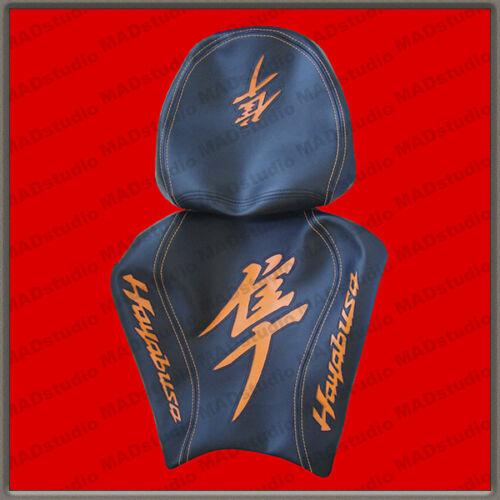 Design Seat Cover Suzuki Hayabusa 08 HANDMADE black+orange 001