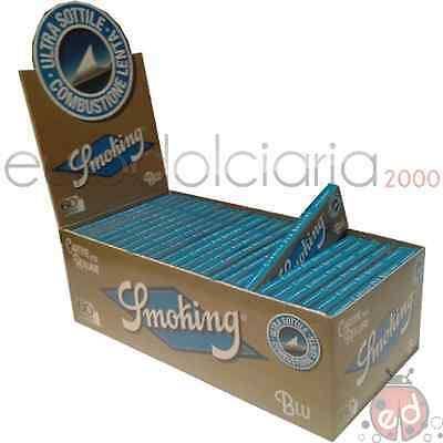 Cartine Smoking Blu - 50 libretti - 1 box + acc.