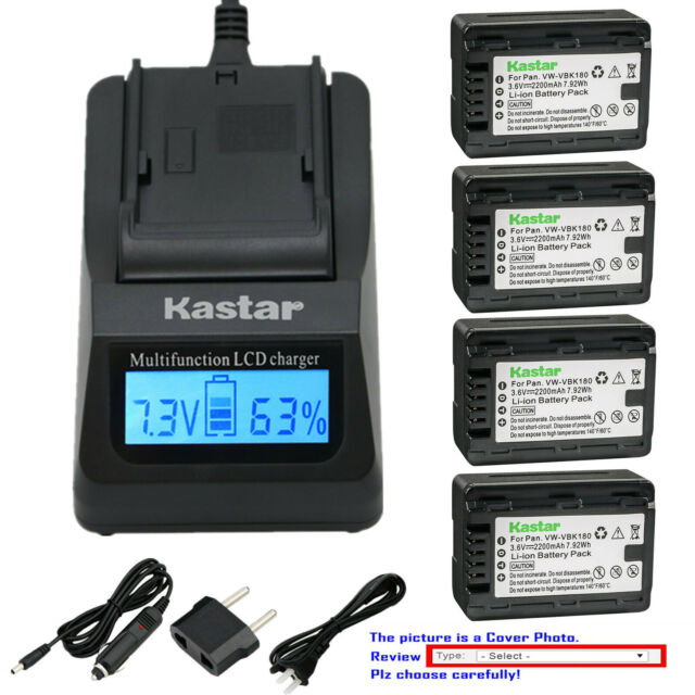 Kastar Battery LCD Dual Fast Charger for Sony NP-QM91D