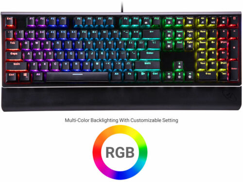 Kailh Brown Switches Rosewill RGB Mechanical Gaming Keyboard NEON K85 RGB BR