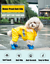 thumbnail 2 - 4Pcs-Protective-Waterproof-Dog-Cat-Rain-Boots-Silicone-Pet-Shoes-Adjustable-Paw