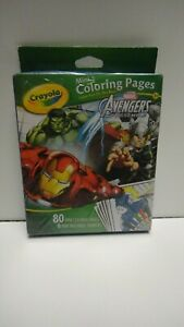 Crayola Marvel Avengers Assemble Mini Coloring Pages Brand New