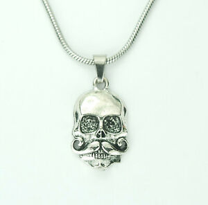 Mustache-Skull-Necklace-Skeleton-Head-with-Imperial-Moustache-Charm-Pendant