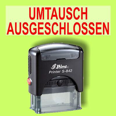 Umtausch Ausgeschlossen - Shiny Printer Schwarz S-842 Büro Stempel Kissen Rot Starker Widerstand Gegen Hitze Und Starkes Tragen