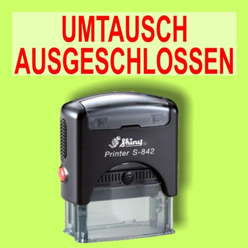UMTAUSCH AUSGESCHLOSSEN Shiny Printer Schwarz S-842 Büro Stempel Kissen Rot