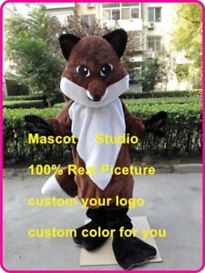 Fox-Mascot-Costume-Cosplay-Party-Chic-Dress-Outfit-Advertising-Halloween-Adult