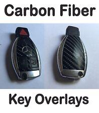 Mercedes Benz Carbon Fiber Key Fob Overlay Kit Sticker R63 S55 S63 S65 AMG