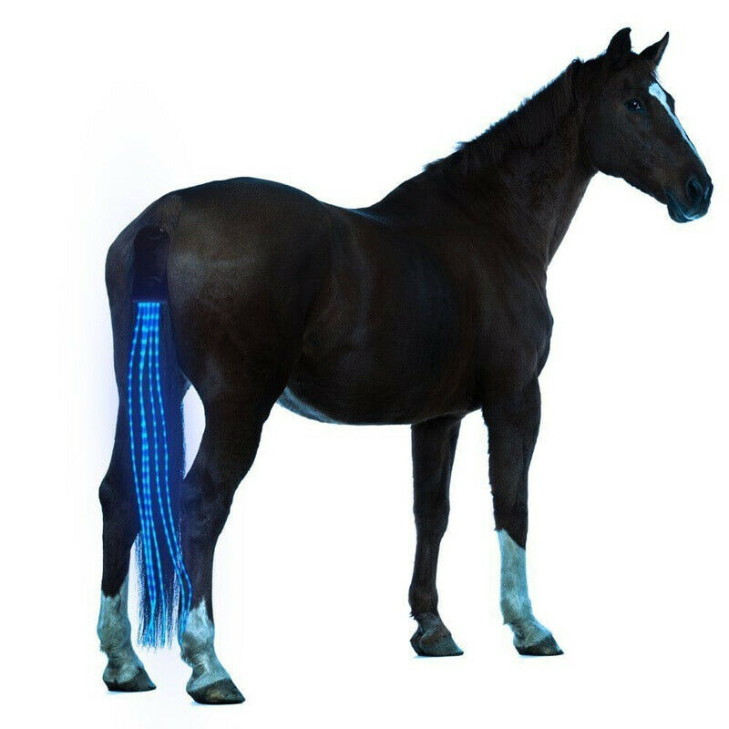 100CM Horse Tail USB Lights Chargeable LED Crupper Horse Harness Equestrian