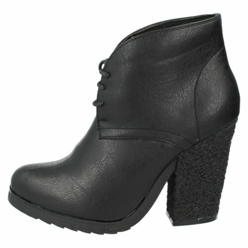 *SALE* Down To Earth F50021 Ladies Black High Heel Boots