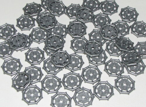 Lego Lot of 50 New Flat Silver Plates Modified 2 x 2 with Bar Frame Octagonal