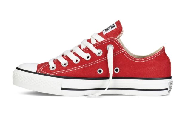 06a7331303cd Converse All Star Ox Chuck Taylor Red White Unisex Canvas Classic ...