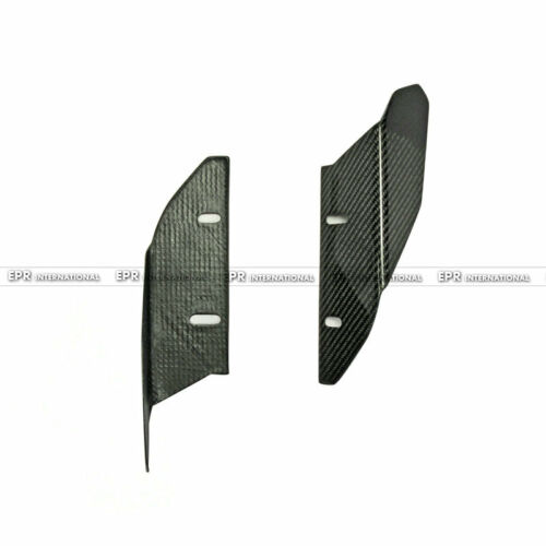 New 2Pcs Front Bumper Splitter Kits For Universal Car ARC Style Carbon Fiber
