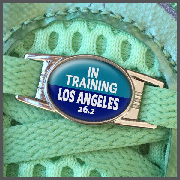 In Training Los Angeles 26.2 Marathon Shoelace Sneaker Shoe Charm or Zipper Pull