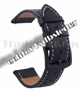 Uhrenarmband-Leder-Kalb-Kalbsleder-Rind-Uhr-Armband-schwarz-18-20-22-24mm