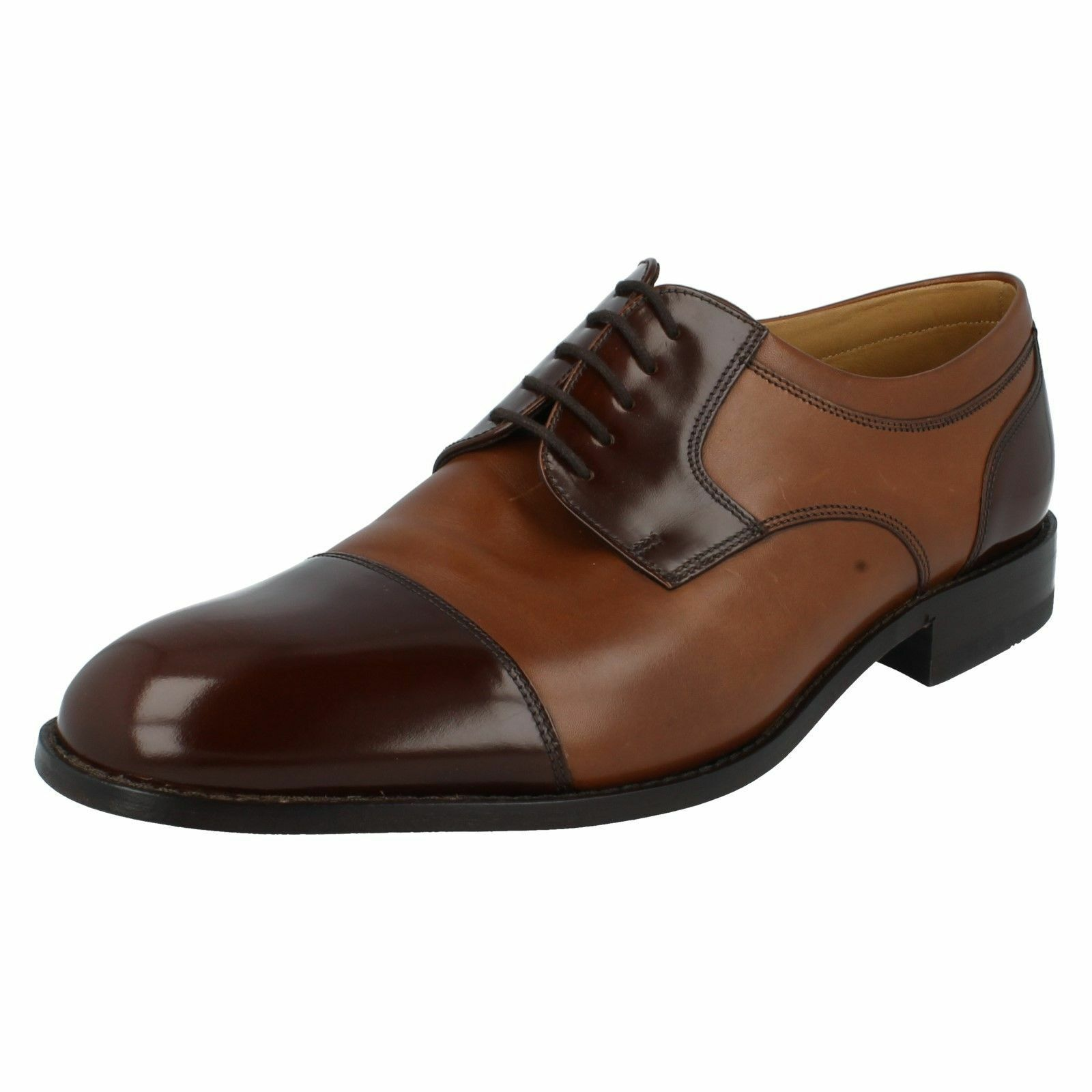 Herren WANTAGE H fitting Braun two toned Braun fitting lace up shoe By Loake cd5b0e