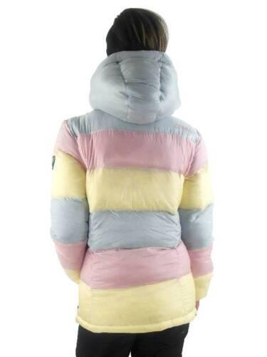 O/'Neill Daunenjacke Snowboardjacke Explore Moonstone pink gelb Kapuze
