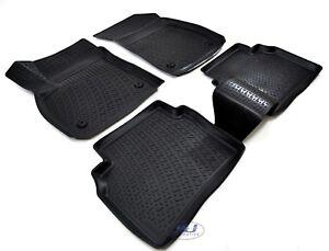 3d Exclusive Tapis De Sol En Caoutchouc Noir 4pcs Pour Opel Insignia