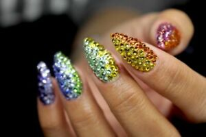 Swarovski Crystals GOLD non hotfix flat back rhinestones for nail art design