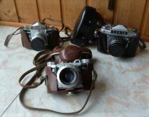 3 Alte Kameras - Altissa Altix + Exa + Exa 1a - Je In Originaltasche