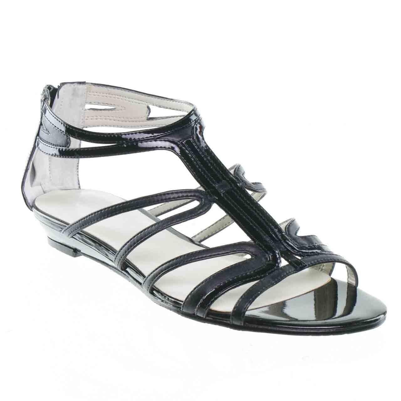 NOUVEAU Nine West Makaia Gladiateur Sandale, Noir Femme Taille 6
