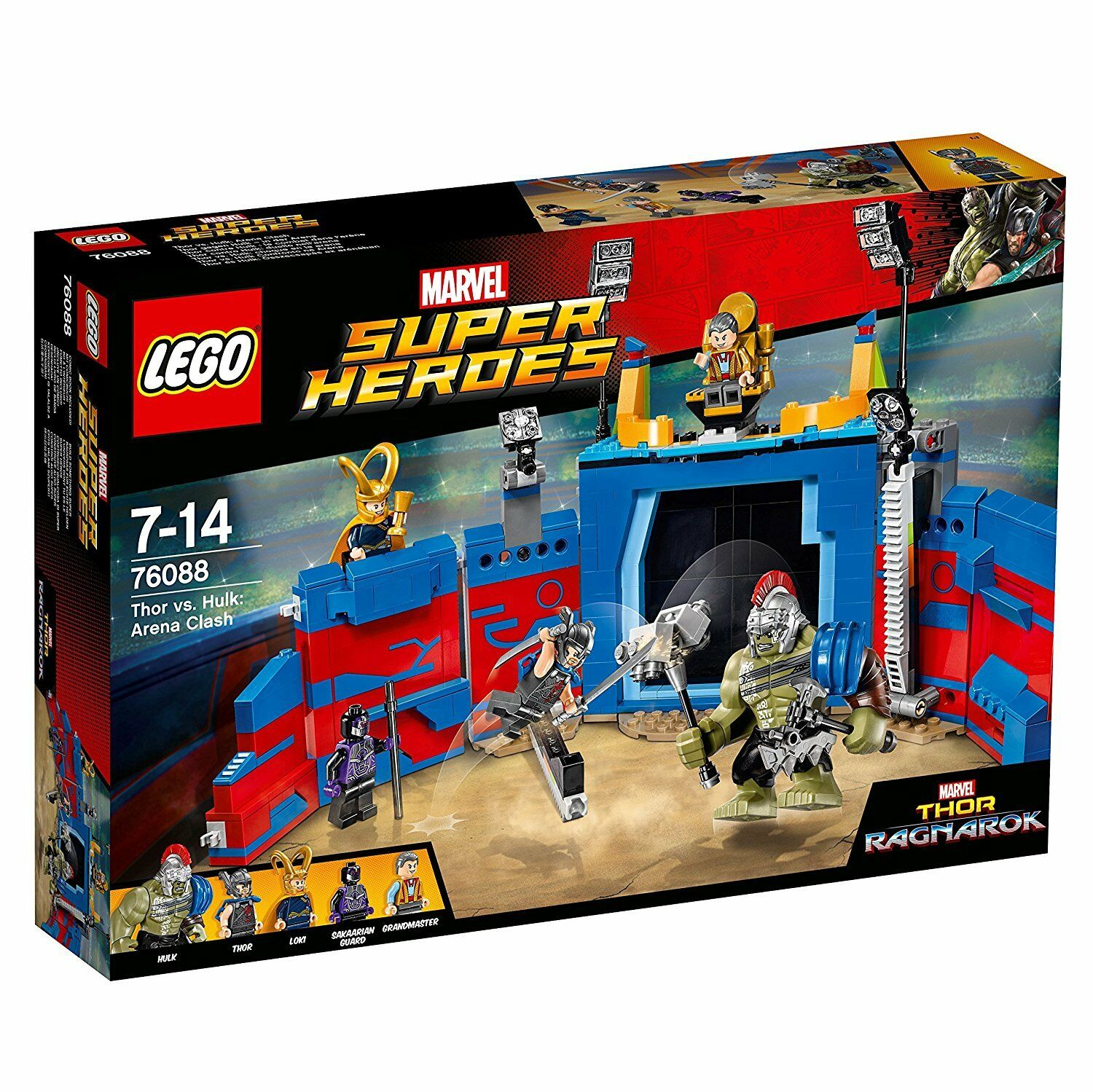 LEGO Super Heroes Thor Hulk Duello Nell'Arena MultiFarbee 76088