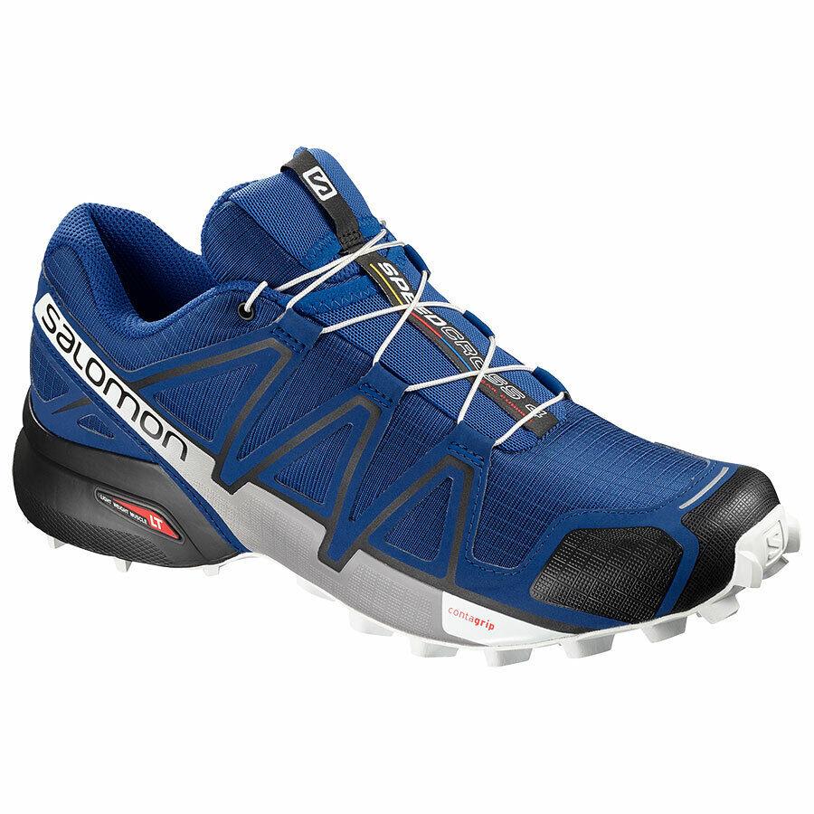 Zapatos Trail Running Salomon Speedcross 4 Mazarine azul Wil negro blanco 2019