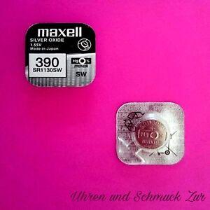 1x Sony 399 Uhren-Batterie Knopfzelle SR927W AG7 Silberoxid Blisterware Neu