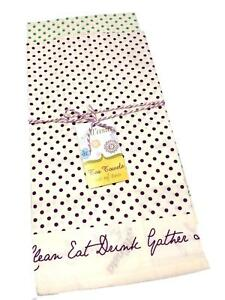 All Asta Cotton Purple Blue Polka Dot Tea Kitchen Cloth Linen Towels