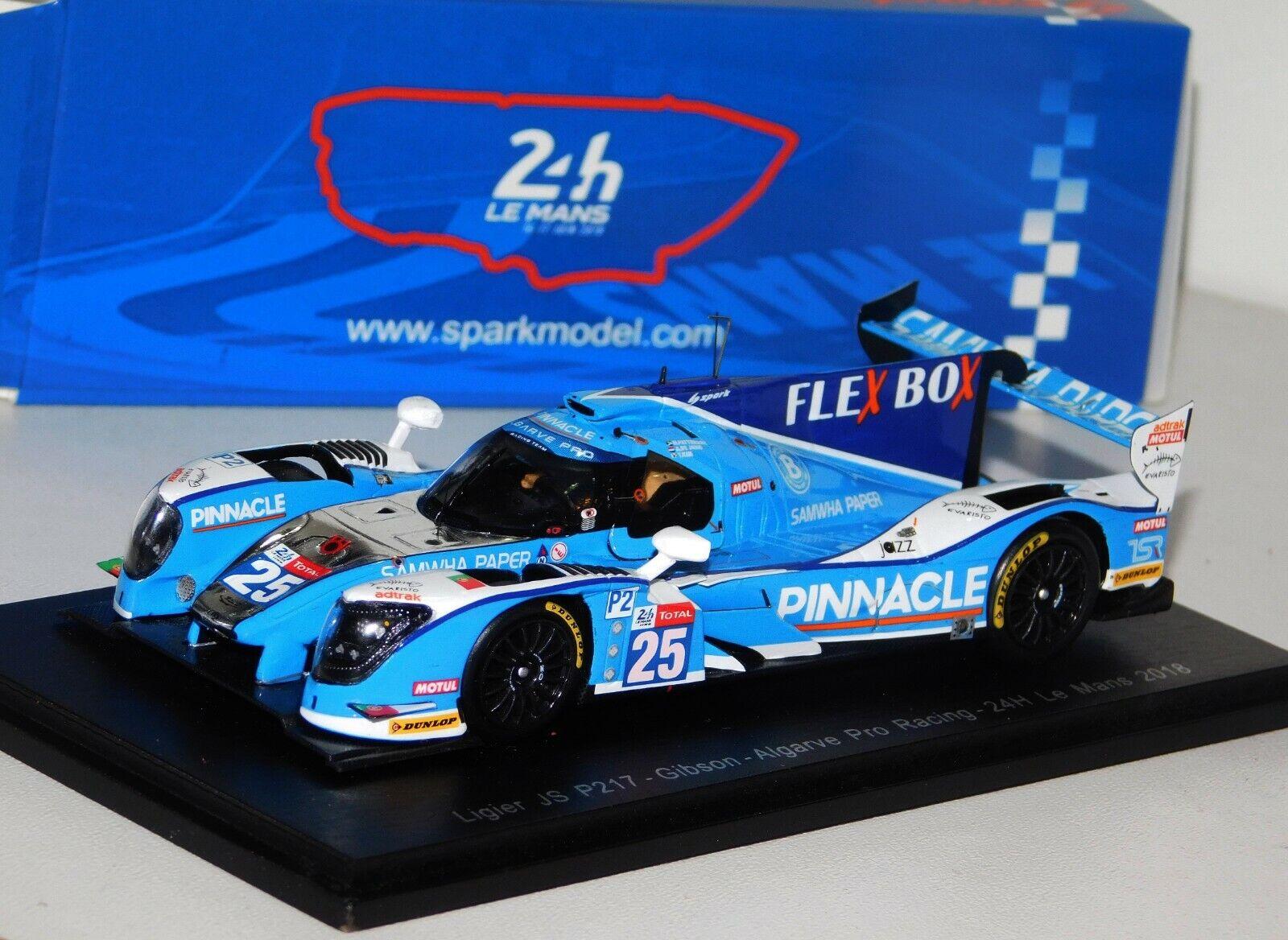 LIGIER JS P217 Gibson algavre Pro Racing  25 Le Mans 2018 Spark S7012 1 43