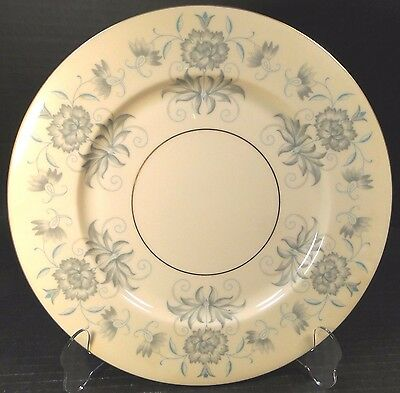 "Castleton China Caprice Dinner Plate 10 3/4"" Blue Gray Floral EXCELLENT"